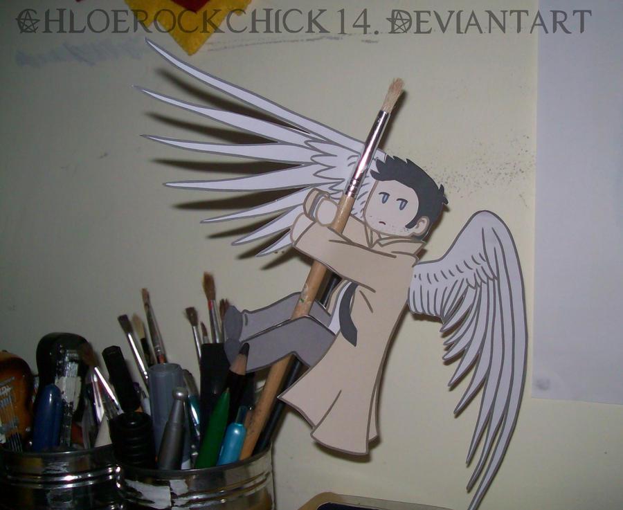 Castiel Paper Angel by ChloeRockChick14