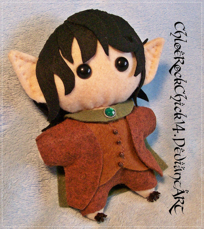 Frodo Baggins Chibi Plushie - LOTR/The Hobbit by ChloeRockChick14
