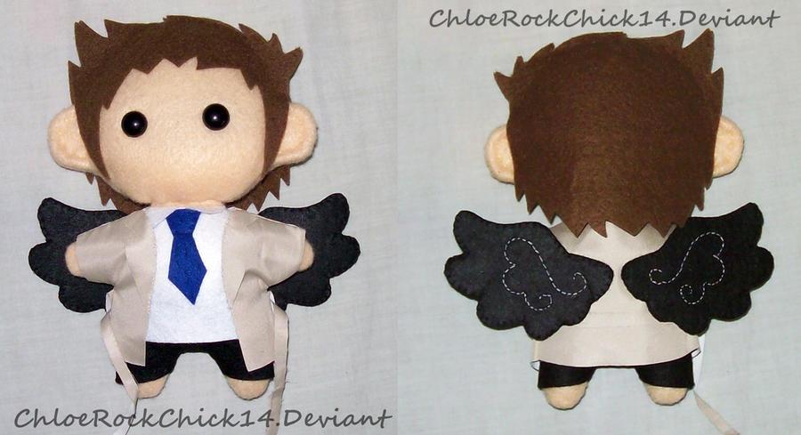 Castiel plushie by ChloeRockChick14