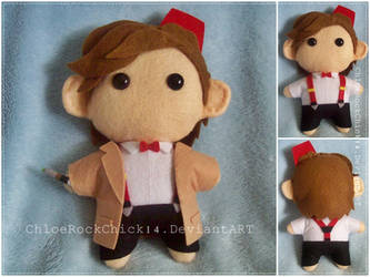 Eleventh Doctor - Chibi plushie by ChloeRockChick14