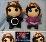Amazingphil and Danisnotonfire chibi plushies