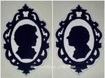 Sherlock and John silhouettes by ChloeRockChick14
