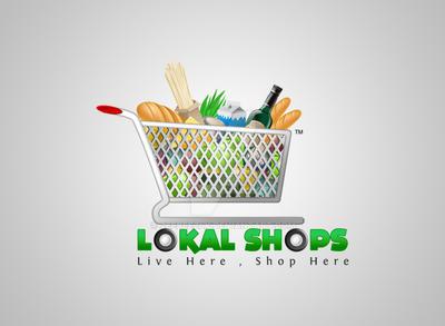 LOKAL SHOPS - Logo Design by zeebeezlk