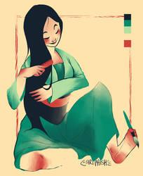 Mulan Colour Template #01