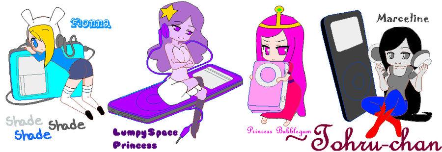 Adventure Time- Ipods by TohruOnigriHonda865