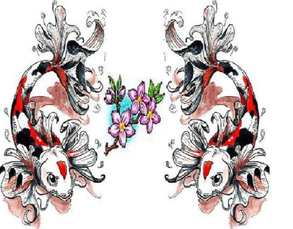 Koi tattoo rough design by