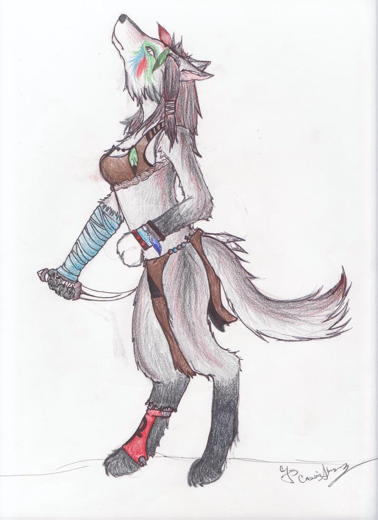 Wolf Warrior by oOLitt...