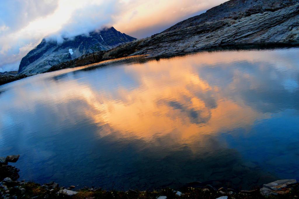 sunset lake by BCMountainClimber