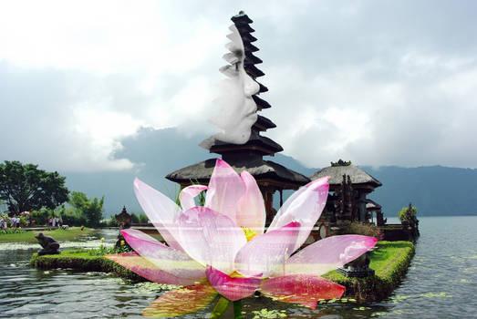 Lotus Girl Pura Ulun Danu Batur 2