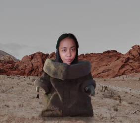 Little BabyIza strolling through the desert.