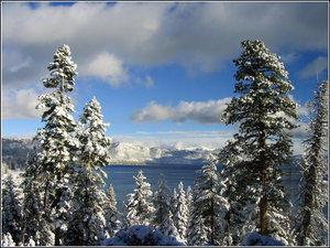 Tahoe Lake After Snow by SA-goons