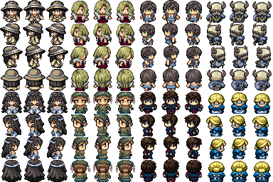 RPG Maker VX - Various Characters (2) by Amysaurus121 on