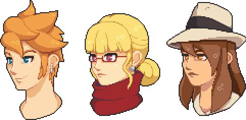 Character Headshots by Amysaurus121