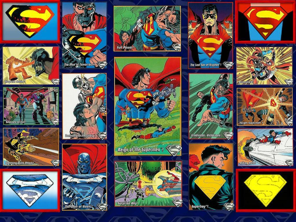 Reign of the Supermen SkyBox Wallpaper by Superman8193 on