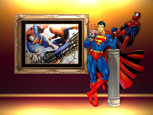 Superman vs Spiderman WP 3 by Superman8193 on DeviantArt