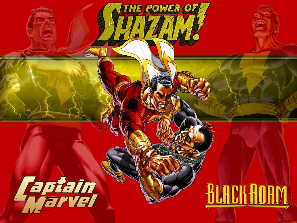 Captain Marvel vs Black Adam by Superman8193 on DeviantArt