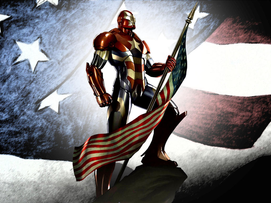 Iron Patriot Comic Iron Patriot Flag wp 2 by