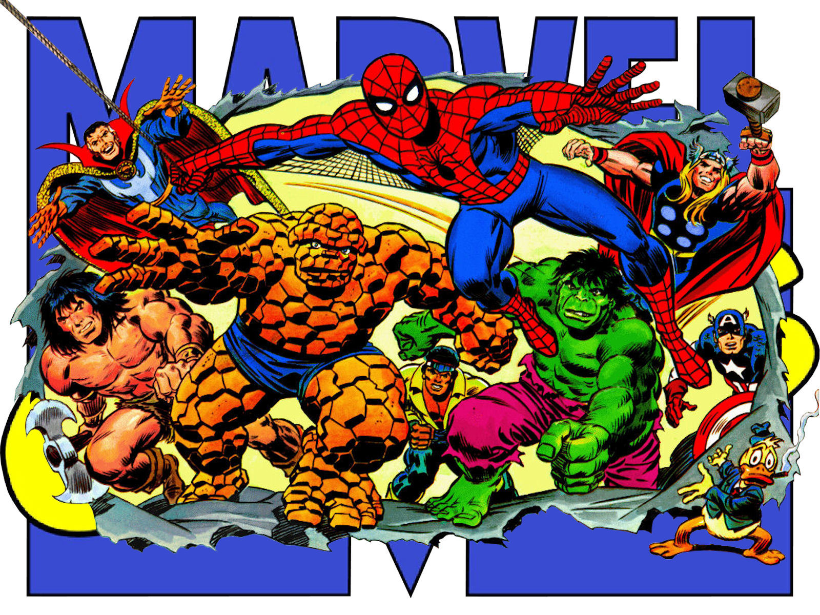 Marvel characters wallpaper by superman8193 on deviantart - Marvel retro wallpaper ...