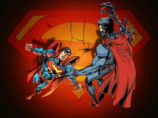 superman_vs_cyb... Cyborg Superman New 52