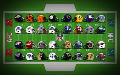 NFL Field of Helmets!