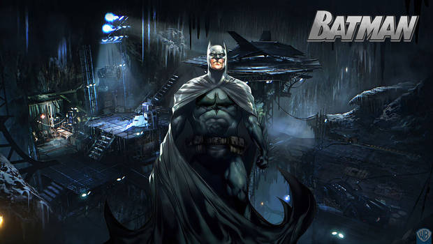 Batman in the Batcave