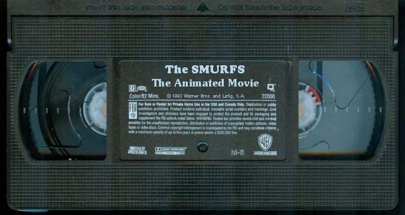 The Smurfs: The Animated Movie (1993) VHS Tape by Gabkat2007