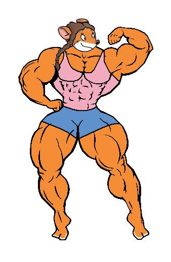 Muscular Susan (tank top and shorts) by Gabkat2007