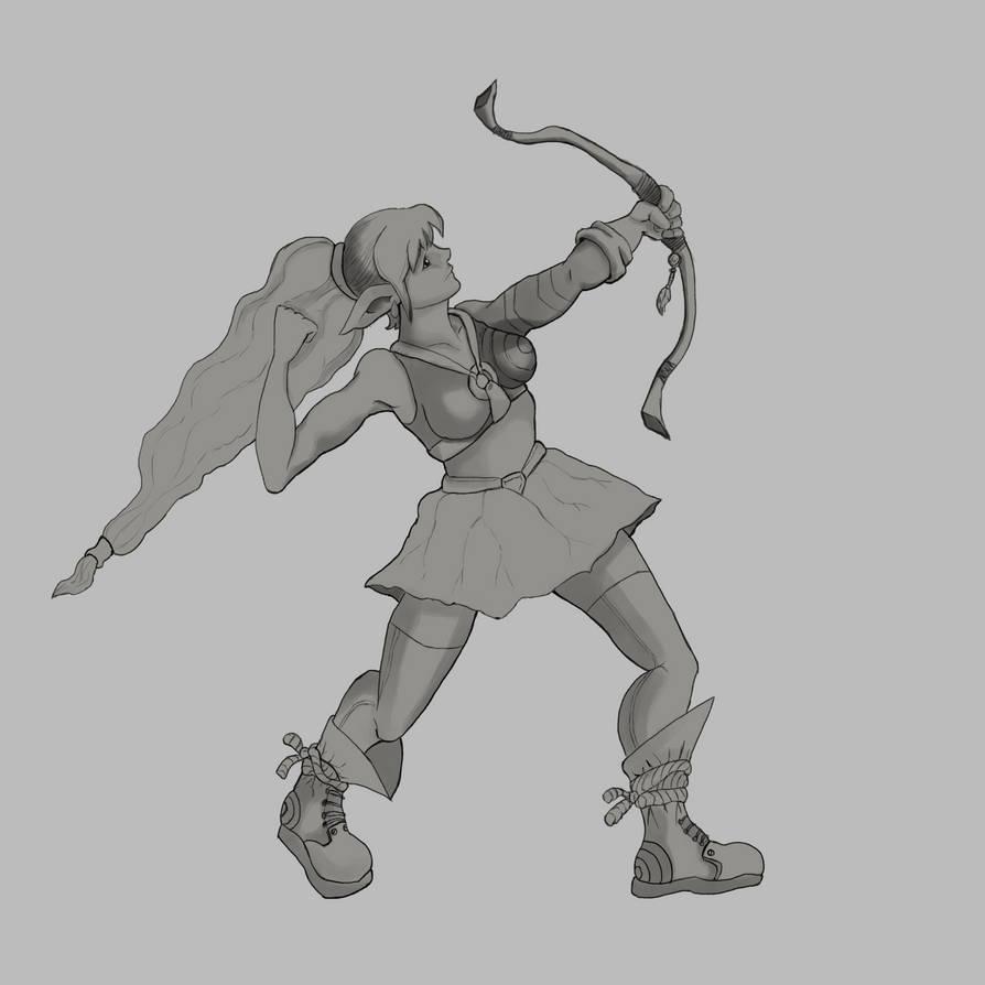 Elf Archer Refine Base by Elehisie