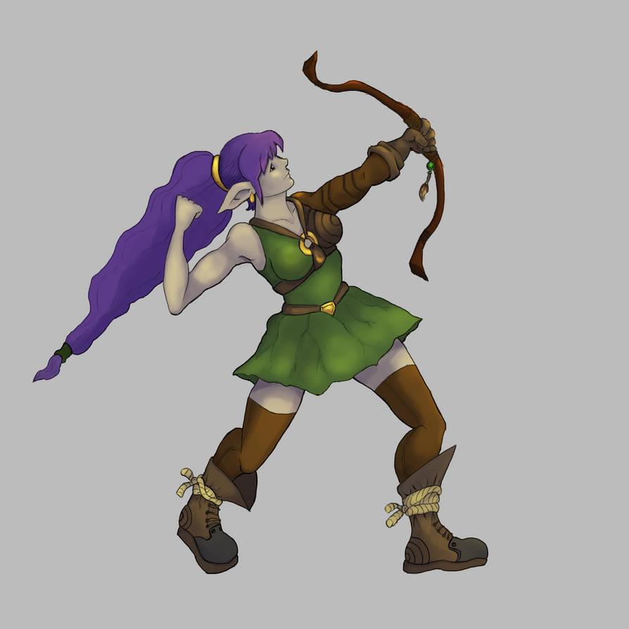 Elf Archer Final by Elehisie