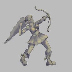 Elf Archer Shadowsandhighlight