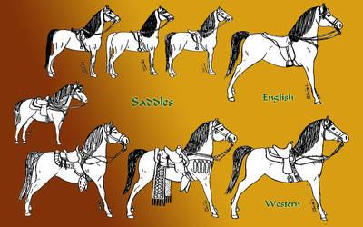 horses under saddle by Refiner