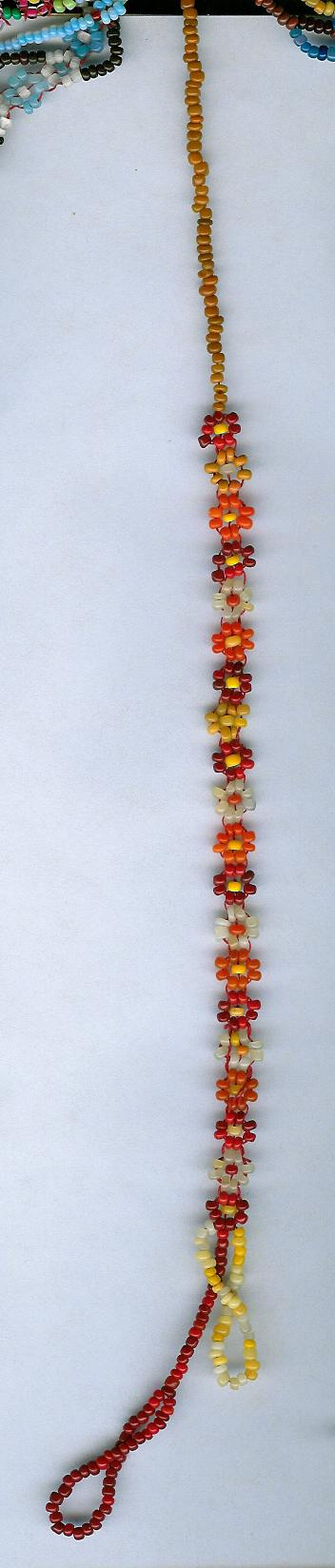 Red Lazy Daisy Chain by Refiner