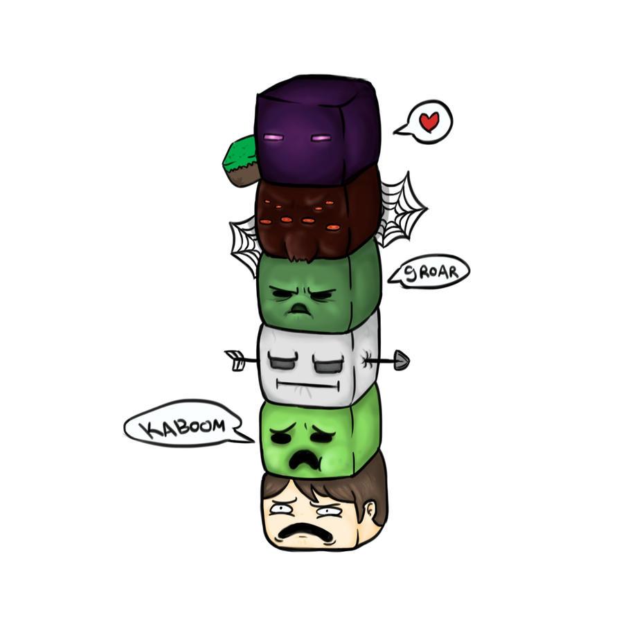 Download Wallpaper Minecraft Cute - minecraft_totem_pole_by_hikky_kun-d5xn2gn  Pic_327838.jpg