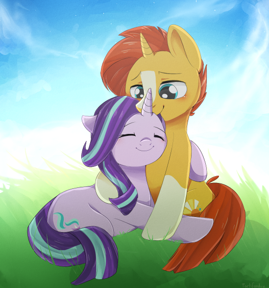 Sunburst and Starlight Glimmer - MLP by okaces