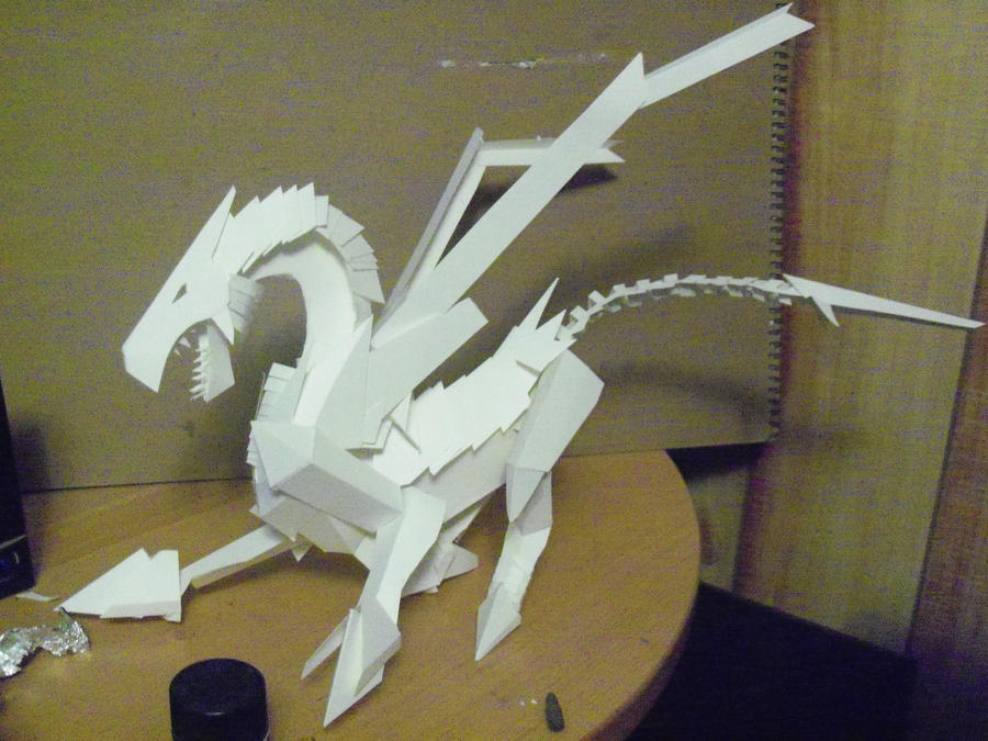 how to make a dragon in paper