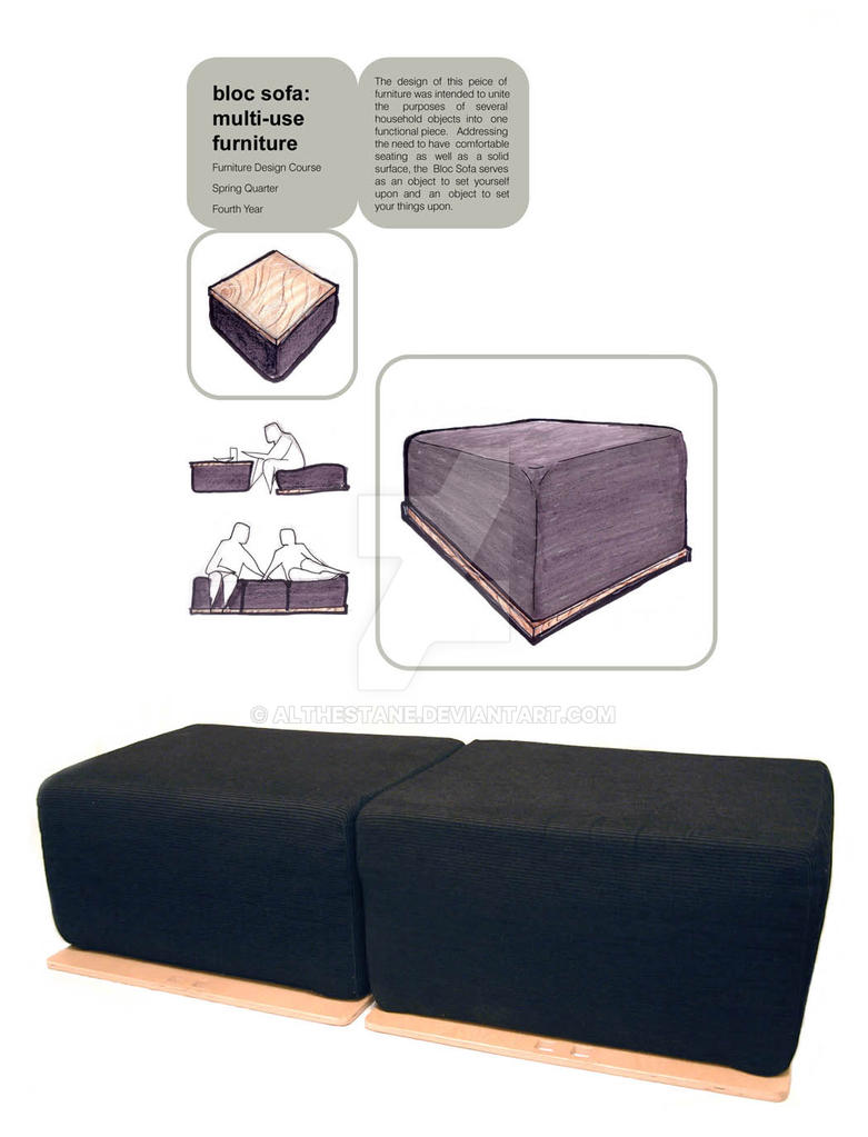 Bloc Sofa: Multi Use Furniture By Althestane ...
