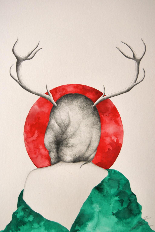Lady deer by EriMed