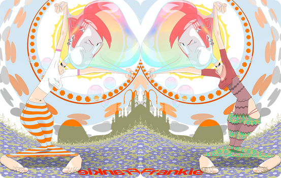 Frankie and her head stuck in (vectorial)