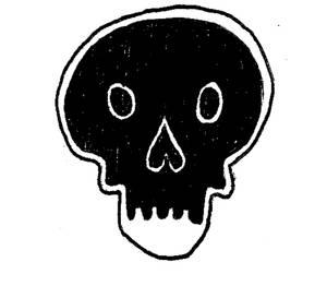 Black death face