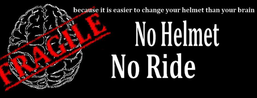 Pas de casque, pas de vélo.