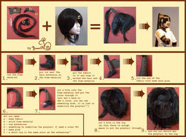 Tsubaki ponytail tutorial
