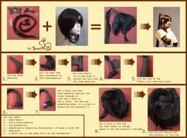 Tsubaki ponytail tutorial by YumiPi