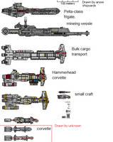 Star Wars Corvettes/frigates by AnowiShipyards