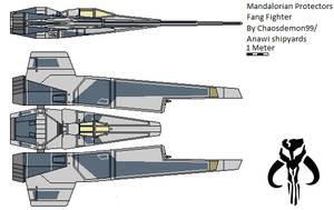 Mandalorian Protectors Fang fighter by AnowiShipyards