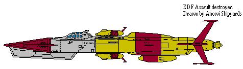 EDF Assault Destroyer Isokaze-Class by AnowiShipyards