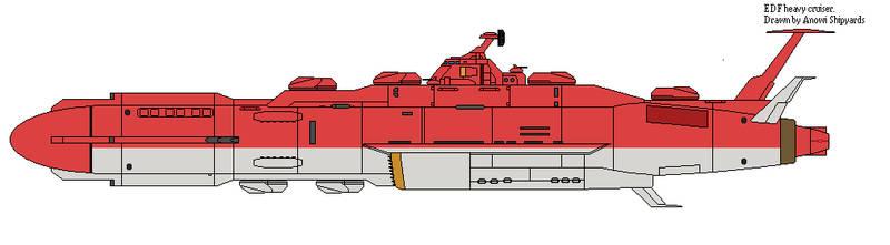 EDF heavy cruiser. by AnowiShipyards