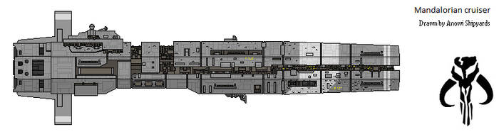 Mandalorian Starship WIP by AnowiShipyards