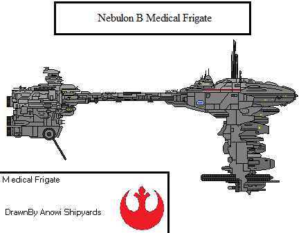 Nebulon B medical frigate by AnowiShipyards
