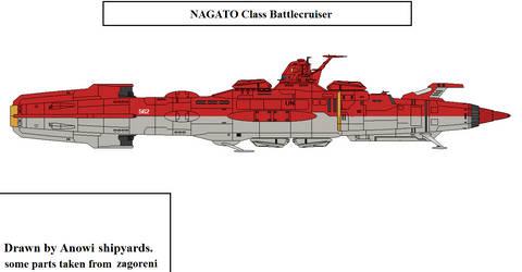Nagato class Battlecruiser by AnowiShipyards