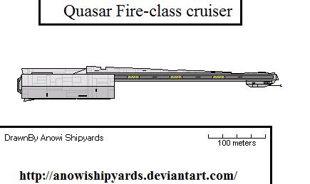 Quasar Fire-class bulk cruiser/escort carrier by AnowiShipyards